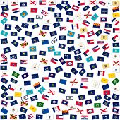 The flags of US states, collage