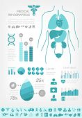 stock photo of ambulance  - Medical Infographic Template - JPG