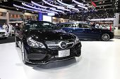 Nonthaburi - November 28: Mercedes-benzthe New E-class Coupe Car On Display At The 30Th Thailand Int