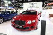 Nonthaburi - November 28:bentley Continental Gt Speed Car On Display At The 30Th Thailand Internatio