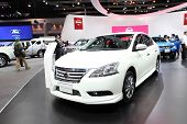 Nonthaburi - November 28: Nissan Sylphy Car On Display At The 30Th Thailand International Motor Expo