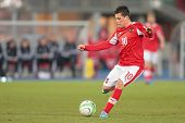 VIENNA,  AUSTRIA - MARCH 22 Zlatko Junuzovic (#10 Austria) kicks the ball during the world cup quali
