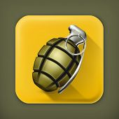 stock photo of projectile  - Hand grenade - JPG