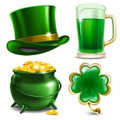 stock photo of leprechaun hat  - Set of St - JPG