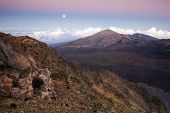 Full moon, Haleakala National Park, Maui, Hawaii