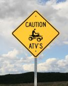 Caution Atv Sign