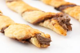 picture of pastarelle  - puff pastry stuffed with cream chocolate dark - JPG