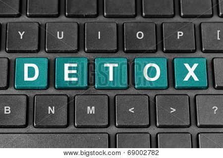 Detox Word On Keyboard
