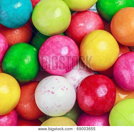 Colors Round Bubblegum Background