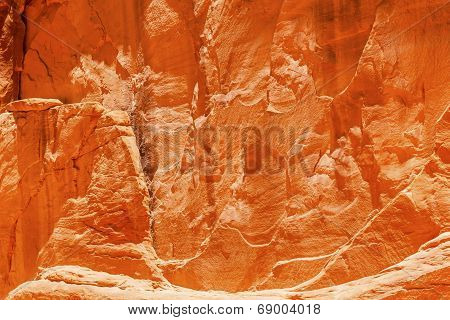 Orange Yellow Sandstone Rock Canyon Abstract Sand Dune Arch Arches National Park Moab Utah