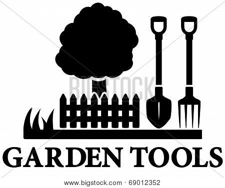 black garden landscaping icon