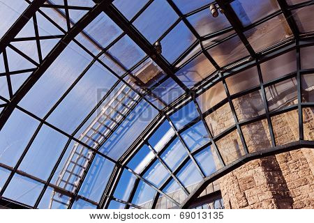 The Glass Roof Of A Station In The Sunlight