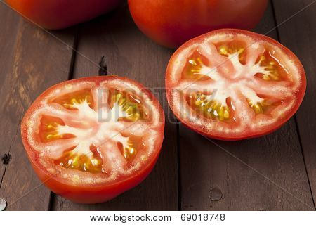Tomato Cut In Half Close Up