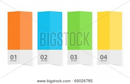 Color brochure template graphic illustration