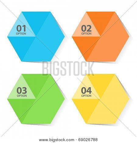 Pentagon color infographic template illustration