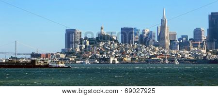 San Francisco City Skyline from the Bay