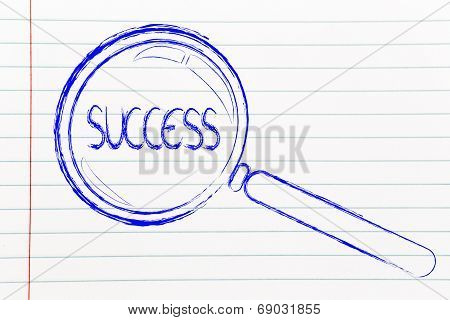Finding Success In Business, Magnifying Glass Design