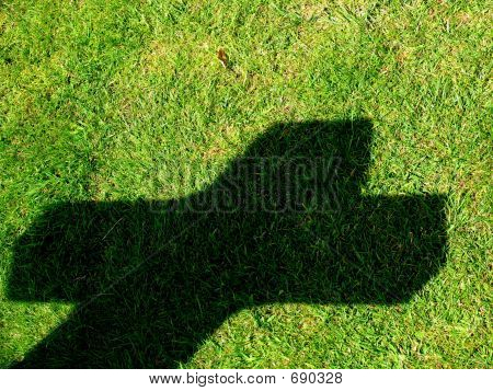 A Graves Shadow , Normandy American Cemetery , Colleville Sur Mer , Normandy , France