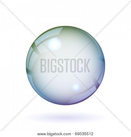 Transparent soap bubble, eps10 vector