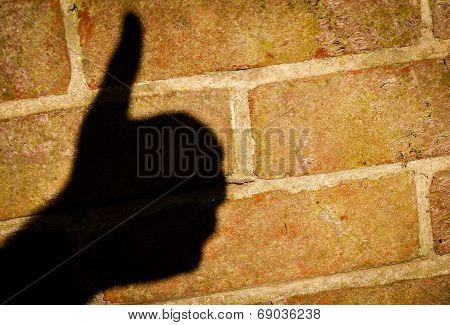 Thumbs up shadow
