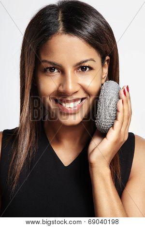 Woman Exfoliating Concept