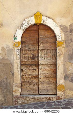 Antique door in center Italy style