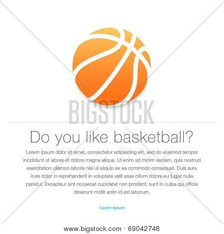 Basketball icon. Orange basketball ball