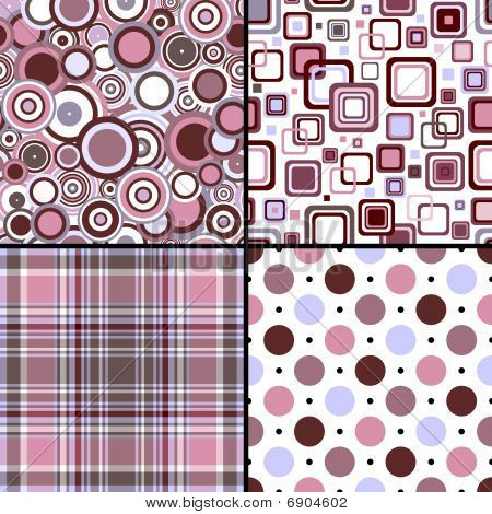 Set four seamless patterns