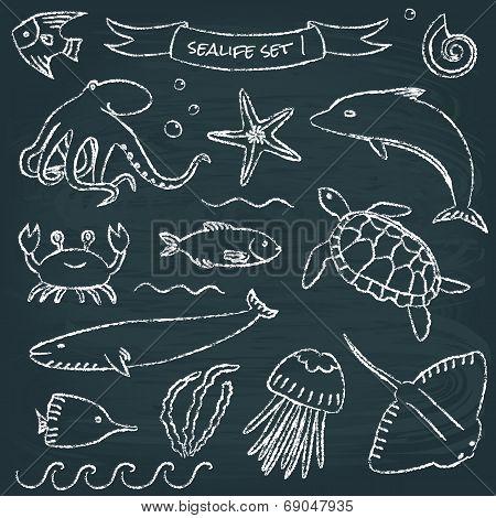 Sealife chalkboard set 1