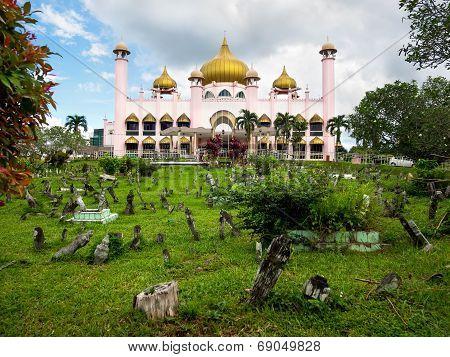 Kuching City Mosque In Kuching, Sarawak, Malaysia