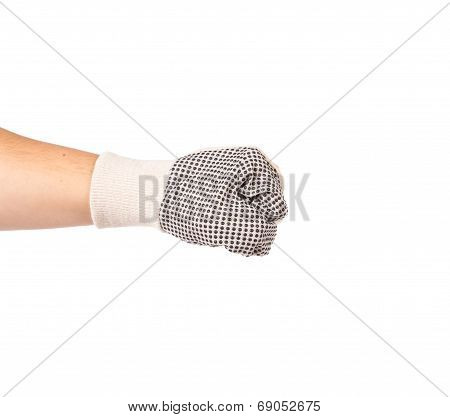 Fist in white glove
