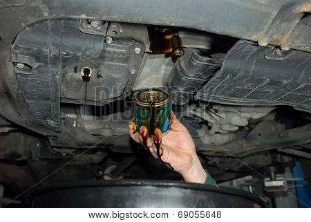 replacement of oil filter