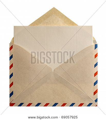 Retro Style Air Mail Envelope Letter
