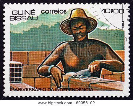 Postage Stamp Guinea-bissau 1984 Mason