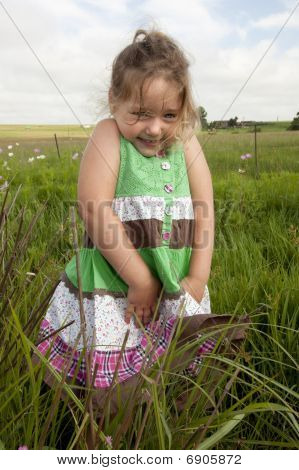 Little girl in farmland