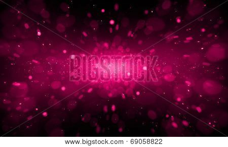 Defocused red sparkle glitter lights background. Glitter bokeh background