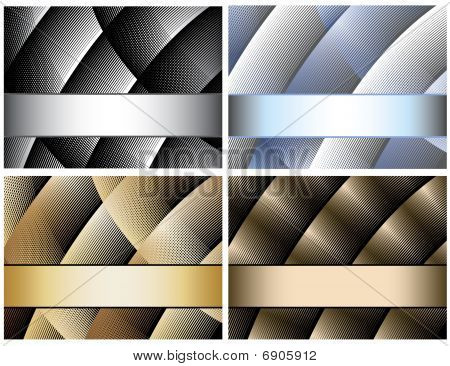 Abstract background and banner set