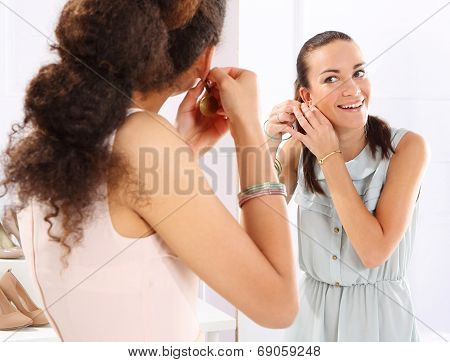 Brand clothing, women shopping