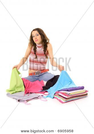 Woman And T-shirts