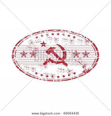 Communist red stamp