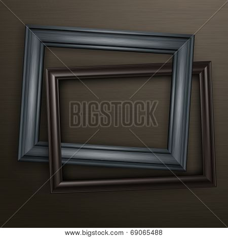 Two Wooden Black Frames