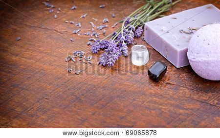 Lavender soap - spa concept