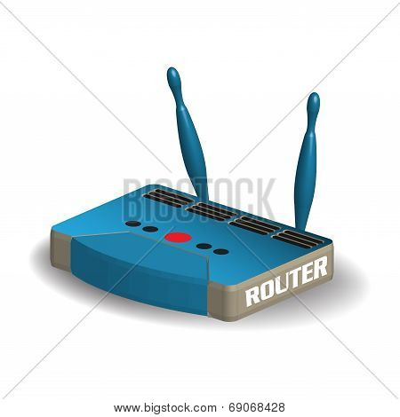 Blue internet router