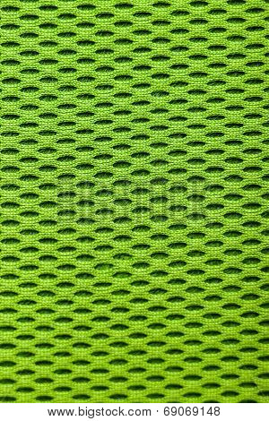Synthetic Green Cloth. Grid Closeup. Macro
