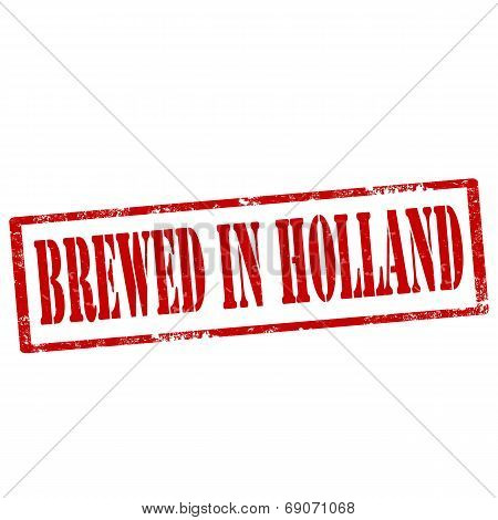 Brewed In Holland-stamp