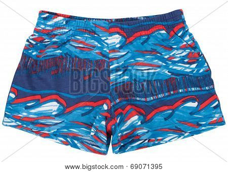 Swimming trunks isolated on a white background.