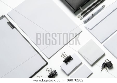 Blank Stationery Isolated On White