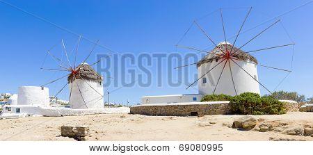 Windmills In Mykonos,greece