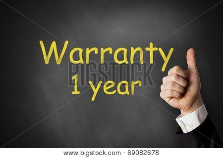 Thumbs Up Warranty 1 Year Chalkboard