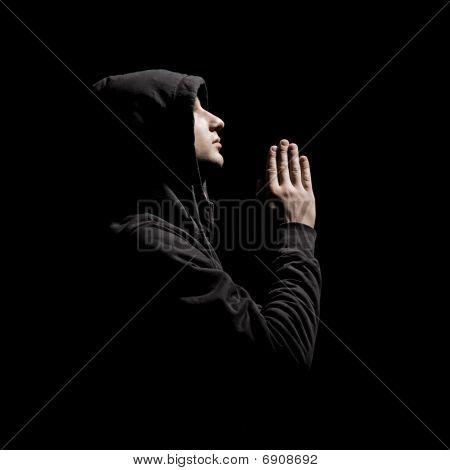 Worshiper In Black Wear